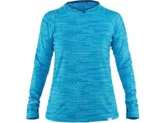 NRS H2Core Silkweight Hættetrøje Damer, blå